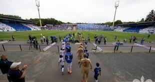 13.05.2018, xshox, Fussball 2.Bundesliga, SV Darmstadt 98 - Erzgebirge Aue, emspor, emonline, v.l. Fanchoreographie Darmstadt Fans